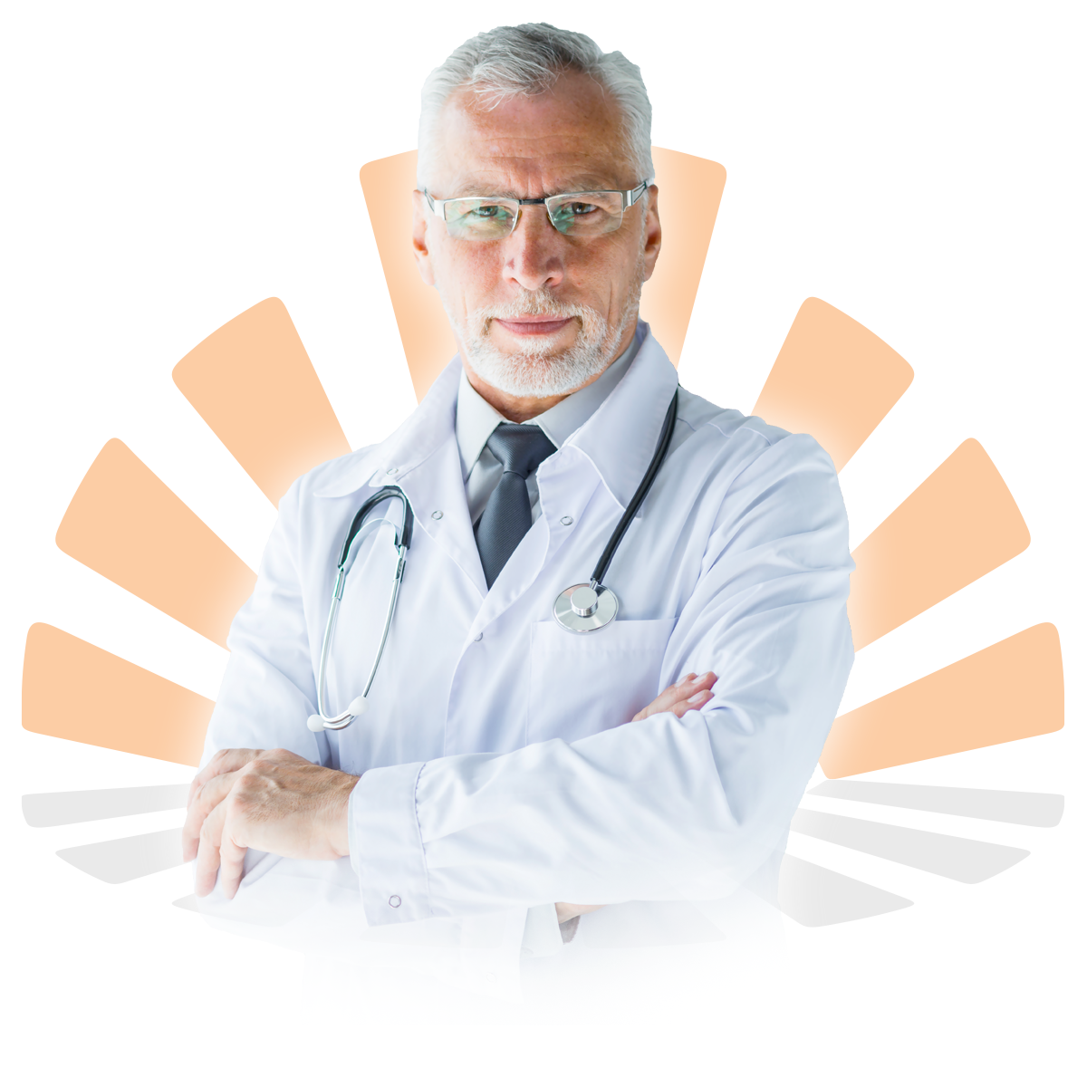 Male Doctor with eye glasses